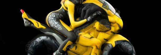 Body Painting: moto umana 1
