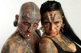 La coppia con più tatuaggi al mondo